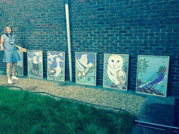 Peace garden nearly completed