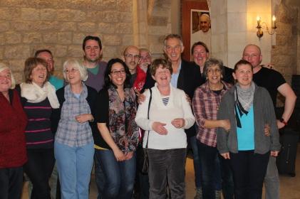 Staff meet Tony Blair in Jerusalem