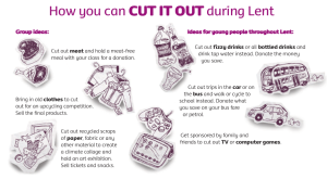 "CAFOD ""Cut It Out"" ideas"